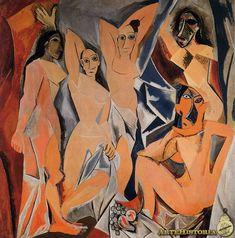 Les Demoiselles d´Avignon  Autor: Picasso Fecha: 1907 Museo: Museo de Arte Moderno de Nueva York Características: 245 x 235 cm. Estilo:  Material: Oleo sobre lienzo