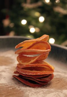 Dried orange slices—string them and use them as ornaments or add them to potpourri.