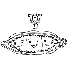 Toy Story Coloring Pages Pea In Pod