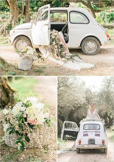wedding car decorations @weddingchicks Photo by Alexandra Vonk Photography Video by Gattotigre - Destination Wedding Videography http://gattotigre.it/wedding https://vimeo.com/128574195