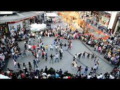 """Zorbas"" Birmingham Flash Mob : Greek and Cypriot students of Birmingham, dancing ""Zorba"" in the center of Birmingham City."