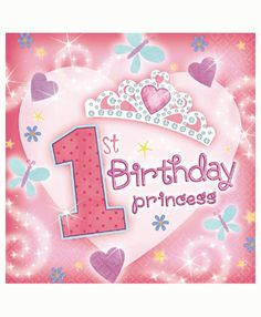 1st-birthday-princess-dessert-napkin-ps 1st Birthday Quotes, 1st Birthday Wishes, Pink First Birthday, 1st Birthday Party Supplies, First Birthday Cards, 1st Birthday Decorations, First Birthday Parties, Girl Birthday, Birthday Lunch