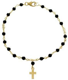 Delicate Raymond Petit Pearl Rosary Bracelet - Initial Obsession