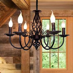 Amazon.com : french country bedrooms colors Wooden Chandelier, Chandelier In Living Room, Candle Chandelier, Vintage Chandelier, Chandelier Lighting, Chandelier Ideas, Kitchen Chandelier, Farmhouse Lamps, Farmhouse Pendant Lighting