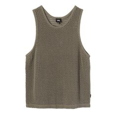 Clothes Encounters, Knitted Tank Top, Tank Man, Mesh, Tank Tops, Knitting, Model, How To Wear, Cotton