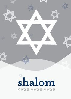 Shalom Style - Hanukkah Greeting Cards in Smoke | DwellStudio