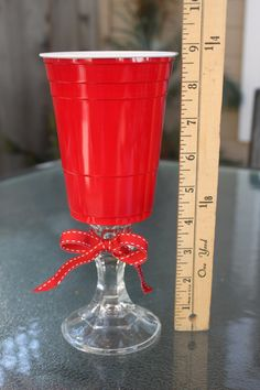 Red Solo Cup Wine Glass. $10.00, via Etsy.