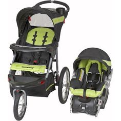 Baby Trend Expedition Jogger Travel System, Electric Lime - Baby Strollers - Infant Car Seat - Stroller Travel Systems - Made From Lightweight Steel Frame - Multi-position, Reclining, Padded Seat - 5-point Harness on Car Seat, http://smile.amazon.com/dp/B00MBNA4SC/ref=cm_sw_r_pi_awdl_Q5l5ub1EB1XAQ