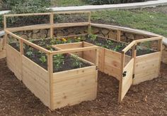 OLT 6' x 3' Raised Garden Bed is a wonderful way to grow just the right amount of veggies and flowers in a small area. Western Red Cedar Panels standing 20 inch #raisedbedsstorage
