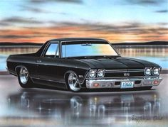 1968 Chevy El Camino SS Muscle Car Art Print 11x14 - Don't mess with auto brokers or sloppy open transporters. Start a life long relationship with your own private exotic enclosed transporter. http://LGMSports.com or Call 1-714-620-5472 today