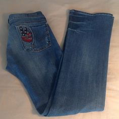 "COH peace jeans. Limited edition. Bootcut. SZ 27. Awesome jeans, excellent condition. Citizens of Humanity Kelly Bootcut. Peace #189 stretch. 7"" rise, measure 14"" across waist, 33.5"" inseam. Citizens of Humanity Jeans"