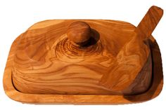 Wooden Butter Dish Knife from carved solid Olive by PrimeServices