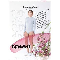 Rowan bodysuit and tee sewing pattern // The ultimate wardrobe builder fitted tee and bodysuit. Pattern features figure hugging close fit, three neckline options, three sleeve lengths and tee or bodysuit versions. Sewing Projects For Beginners, Sewing Tutorials, Sewing Patterns, Sewing Ideas, Sewing Tips, Shirt Patterns, Clothes Patterns, Sewing Hacks, Dress Patterns