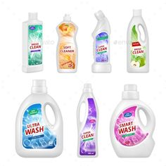 Buy Labels for Chemical Bottles by ONYXprj on GraphicRiver. Labels for chemical bottles. Realistic illustrations of plastic bottles for various chemical liquids. Lava, Illustration Plate, Detergent Bottles, Bottle Packaging, Plastic Bottles, Cleaning Supplies, Diy, Illustrations, Promotion