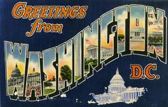 Greetings from Washington, D.C. - Large Letter Postcard | Flickr - Photo Sharing!