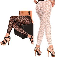 Andy's Share Frauen Damen Spitze Gamaschen Hosen Strumpfhosen zwei Farben