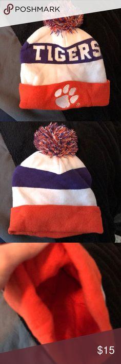 Clemson beanie! Great condition Warm winter beanie! Clemson Tigers. SAME DAY SHIPPING Accessories Hats