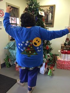 Back of ugly sweater