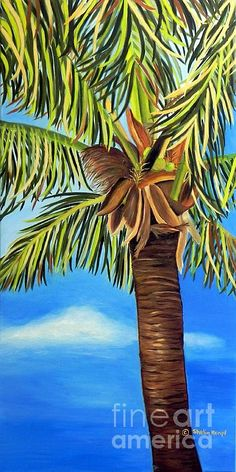 """Lone Palm"" © 2012 Shelia Kempf 18 x 36 Prints can be purschased through fineartamerica.com/shelia-kempf Original is Still Available"