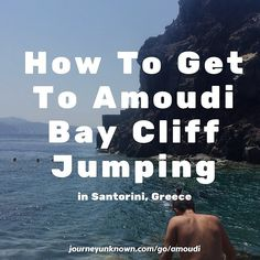 Been on a bit of a Santorini kick recently. Published over 3000 words about this amazing island in the past week. Take a quick read for hot to get to Amoudi Bay Cliff Jumping. Link is in the image.  #travel #blog #cliffjumping #adrenaline #guide #santorini