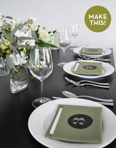 #DIY table number napkins - great for all those holiday parties!
