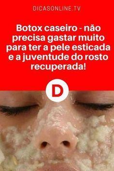 Botox caseiro rosto   Botox caseiro - não precisa gastar muito para ter a pele esticada e a juventude do rosto recuperada!   São apenas três ingredientes. Aprenda ↓ ↓ ↓
