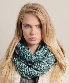 Another great find on #zulily! Blue Marled Knit Infinity Scarf by Leto Collection #zulilyfinds