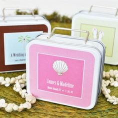 Theme Suitcase Tin Favors from Wedding Favors Unlimited