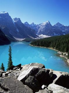 Moraine Lake, Valley of the Ten Peaks, Banff National Park, Rocky Mountains Photographic Print by Hans Peter Merten Beautiful Banff, in Canada Places Around The World, The Places Youll Go, Places To See, Beautiful Places In The World, Amazing Places, Rocky Mountains, In The Mountains, Canada Mountains, British Columbia