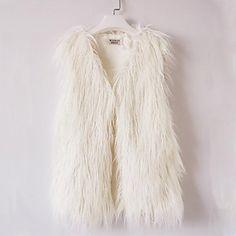 Women's Sleeveless Warm Faux Fur Short Vest . Cute for fur clothing isn't it?