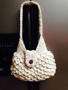 Hey, I found this really awesome Etsy listing at https://www.etsy.com/listing/212289609/hand-crocheted-shoulder-bag-in-crocodile