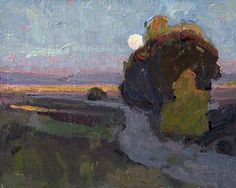 Tualatin Moon by Eric Bowman Oil ~ 8 x 10