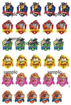 1000 images about paw patrol party on pinterest paw for Paw patrol tattoos