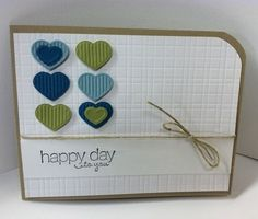 Stampin' Up! SU, Pat's Stampin' Place  love the one rounded corner by deburt
