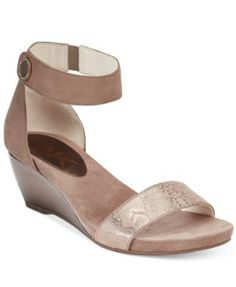 Anne Klein Calbert Ankle-Strap Wedge Sandals | macys.com