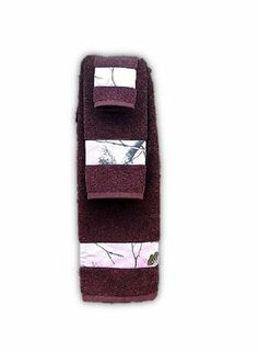 Realtree Pink Camo Towel Set 3PC (1) Bath Towl (1) Hand Towel
