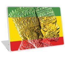 'Haile Selassie Menelik Kings of Kings Ethiopia' Laptop Skin by rastaseed