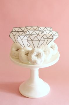 Add some glitz and glam to the bride-to-be's bridal shower or wedding celebration with these DIY donut diamond rings.