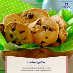 Rum and Raisin Cookies #recipe