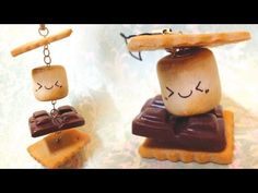 S'more Dangly Polymer Clay Charm - YouTube  This is this year's Christmas ornament for my troop girls. :D
