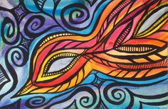 Bird in Flight watercolor. I have since sold this painting, and I love how it turned out.