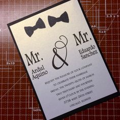 His and his wedding invite. SeptemberBlooms.com