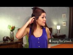 how to curl your hair with a straightener for beginners - YouTube