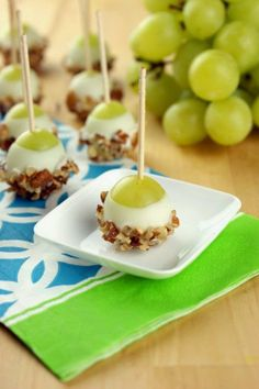 Grape Poppers #food #yummy #delicious **Chels...this is really different and might be good. Grapes = wine?