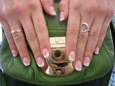 7 Trendy Wedding Manicure Ideas   7. Diagonal french tips