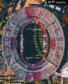 Aerial view of the Estadio El Monumental, as River Plate play Boca Juniors Football Stadiums, Football Field, Football Pitch, Football Art, Drone App, Dji Drone, World Cup Winners, Aerial Drone, Birds Eye View