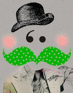 Green moustache