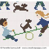 Perrette Samouiloff - The playground, large pattern (cross stitch)