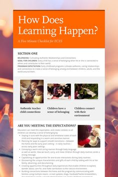 How Does Learning Happen? - How Does Learning Happen? Inquiry Based Learning, Learning Theory, Early Learning, How Does Learning Happen, Characteristics Of Effective Learning, After School Care, Ontario Curriculum, Types Of Play, Learning Styles