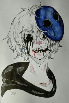 I've been getting into Creepypastas a lot lately Eyeless Jack is one of my faves so have some fanarty
